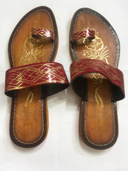 Picture of Copper Faux Leather Slippers