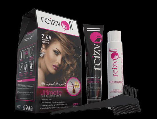 Picture of Reizvoll Ultimate Hair Coloring Creme - 7.65 Medium Blonde