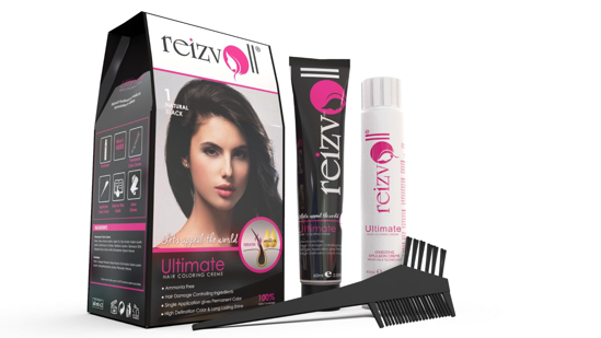 Picture of Reizvoll Ultimate Hair Coloring Creme - 1 Natural Black