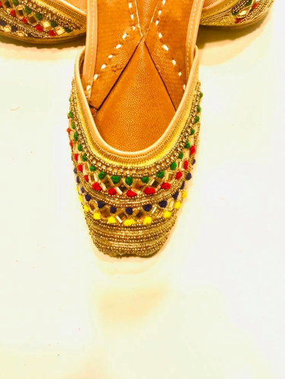 Picture of Zari, Beads, and Thread Embroidered Jutis