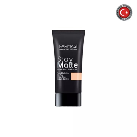 Picture of Farmasi Stay Matte Foundation Porcelain 02 - 30ml