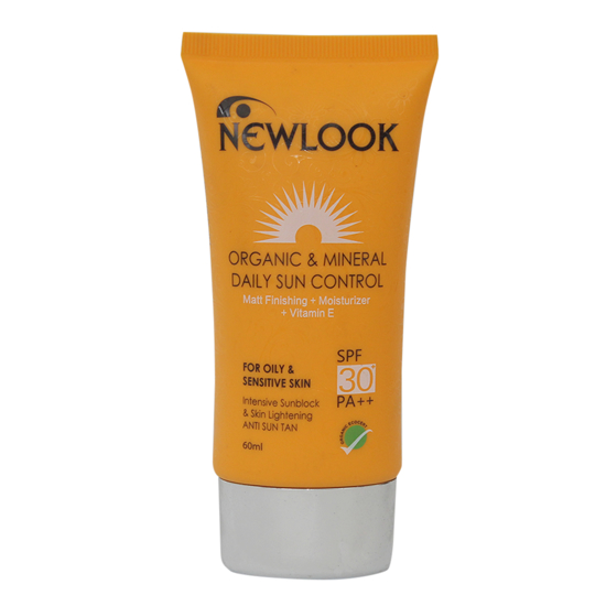 Picture of Newlook Organic and Mineral Daily Sun Control -100ml- SPF 30