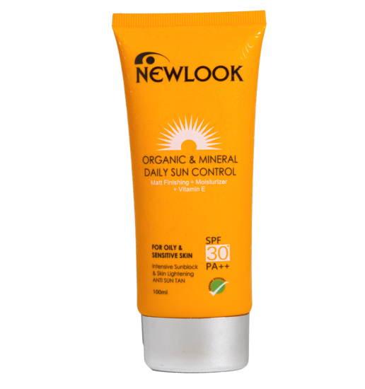 Picture of Newlook  Organic and Mineral Daily Sun Control for Oily skin- 100ml-SPF 30