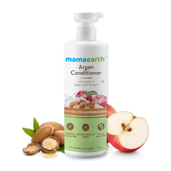 Picture of Mamaearth Argan Conditioner with Argan & Apple Cider Vinegar for Frizz-Free and Stronger Hair - 250ml
