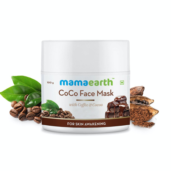 Picture of Mamaearth CoCo Face Mask with Coffee & Cocoa for Skin Awakening – 100g