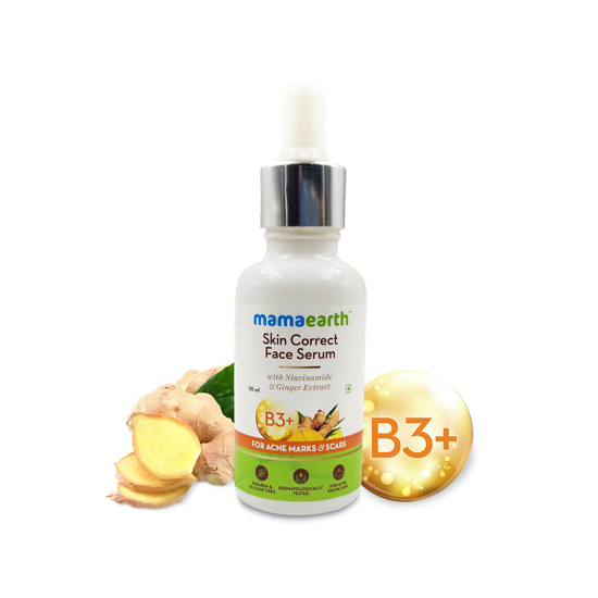 Picture of Mamaearth Skin Correct Face Serum with Niacinamide and Ginger Extract for Acne Marks & Scars – 30 ml
