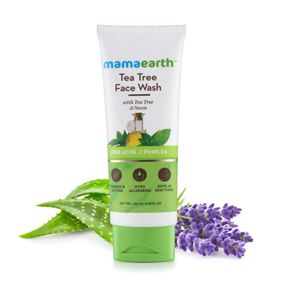 Picture of Mamaearth Tea Tree Facewash for acne & pimples- 100ml