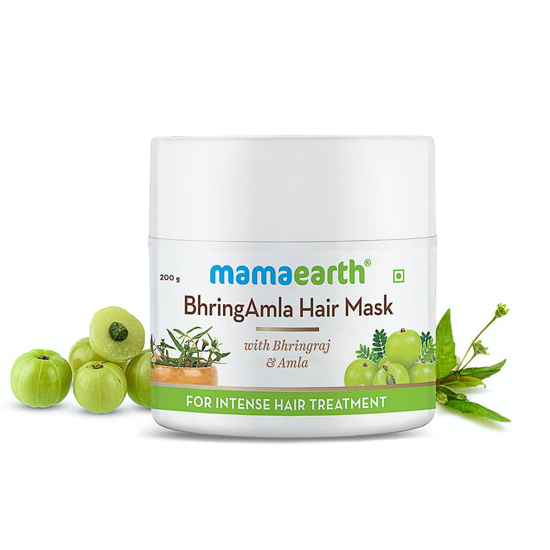 Picture of Mamaearth BhringAmla Hair Mask with Bhringraj & Amla for Intense Hair Treatment – 200 g