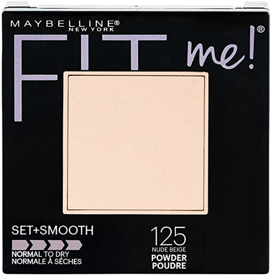 Picture of Maybelline New York Fit Me Matte + Poreless Face Powder 125 Nude Beige