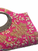 Raw Silk Hand bag with Rich Embroidery Work