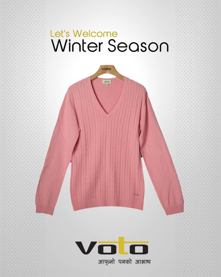 Picture of Pink V- Neck Sweater