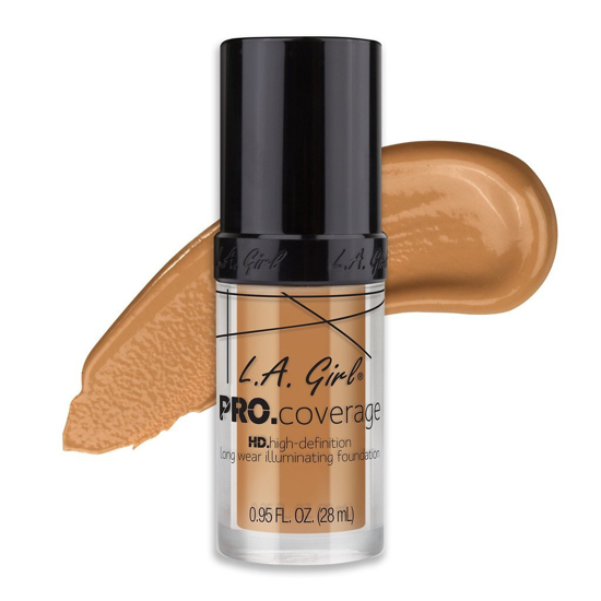 Picture of L.A. Girl Pro Coverage Foundation- Nude Beige