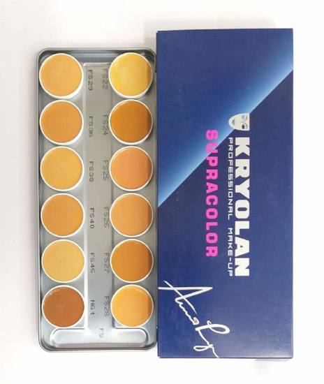 Picture of Kryolan Professional Make-up Supra 12 Color Palette 40ml