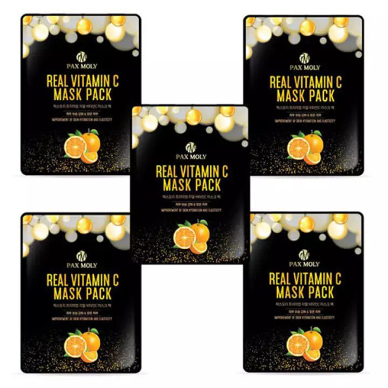 Picture of Pax Moly Real Vitamin C Mask Pack – 5 Sheet Set