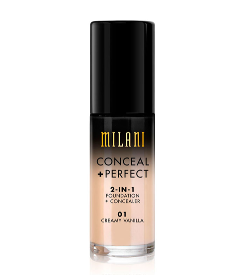 Picture of Milani Conceal + Perfect 2-in-1 Foundation + Concealer - 01 Creamy Vanilla 30ml