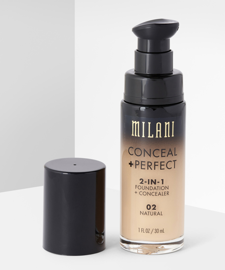 Picture of Milani Conceal + Perfect 2-in-1 Foundation + Concealer - 02 Natural 30ml