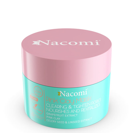 Picture of Nacomi Pink Clay Mask - Cleansing, Tightening Pores, Skin Perfecting 50ml