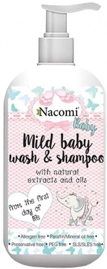 Picture of Nacomi Mild baby wash & Shampoo - from the first day of life 400ml