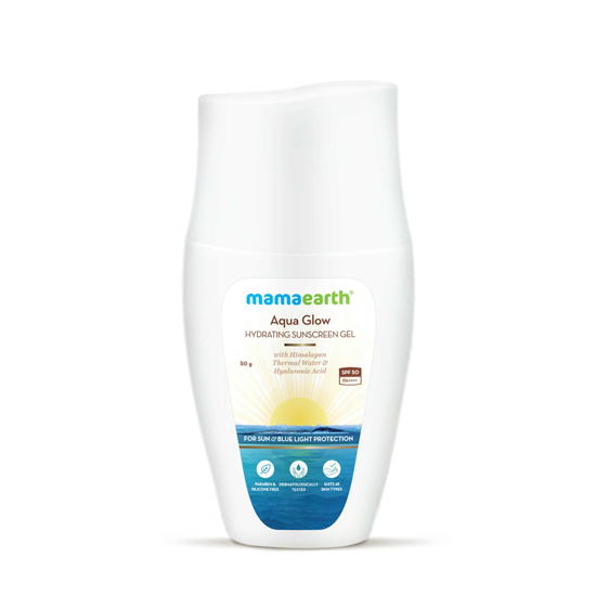 Picture of Mamaearth Aqua Glow Hydrating Sunscreen Gel with Himalayan Thermal Water and Hyaluronic Acid SPF 50 - 50 g