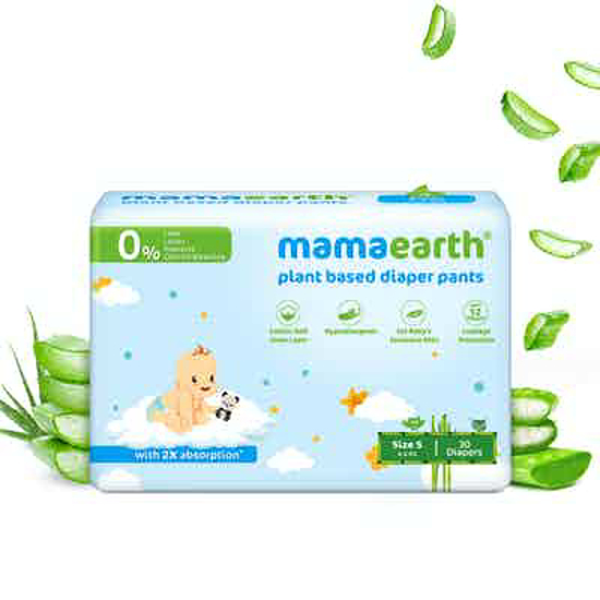 Picture of Mamaearth Plant-Based Diaper Pants for Babies – 4-6 kg (Size S - 30 Diapers)