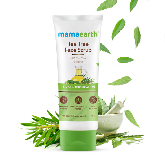 Picture of Mamaearth Tea Tree Face Scrub with Tea Tree and Neem for Skin Purification - 100g
