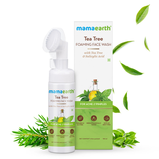 Picture of Mamaearth Tea Tree Foaming Face Wash with Tea Tree and Salicylic Acid for Acne and Pimples - 150ml
