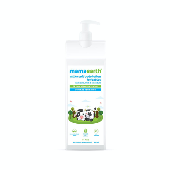 Picture of Mamaearth Milky Soft Body Lotion for Babies with Oats, Milk and Calendula - 400ml