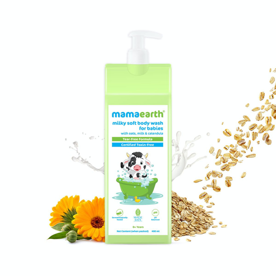 Picture of Mamaearth Milky Soft Body Wash for Babies with Oats, Milk and Calendula - 400 ml