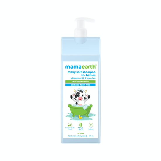 Picture of Mamaearth Milky Soft Shampoo with Oats, Milk and Calendula for Babies - 400 ml