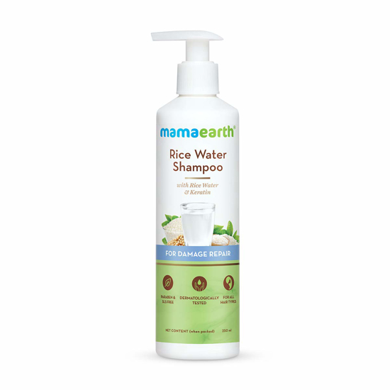 Picture of Mamaearth Rice Water Conditioner with Rice Water and Keratin for Damaged, Dry and Frizzy Hair - 250 ml