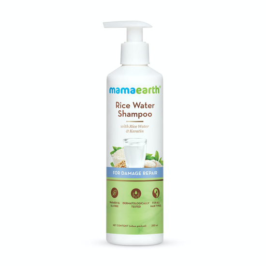 Picture of Mamaearth Rice Water Shampoo With Rice Water and Keratin For Damage Repair - 250ml