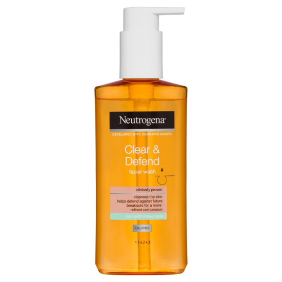 Picture of Neutrogena Clear and Defend Facial Wash (color)