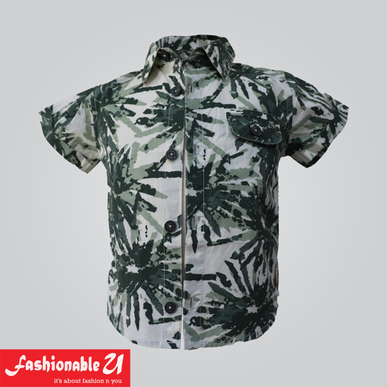 Picture of Green Printed Shirt for Kids