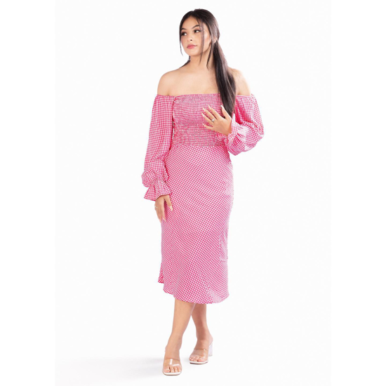 Picture of July Pink Georgette Dress