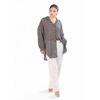 Picture of July Black Oversized Check Georgette Shirt
