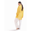 Picture of July Yellow Oversized Check Georgette Shirt