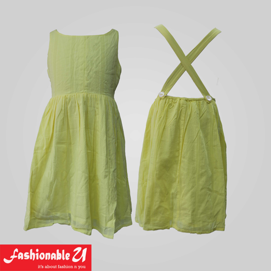 Picture of Stylist Yellow Cotton Frock